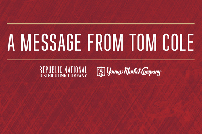 A Message To Associates From Tom Cole, CEO & President